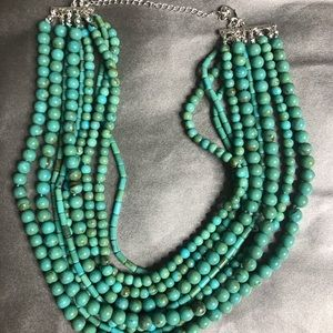 Premier Designs Multi-Strand Green Necklace